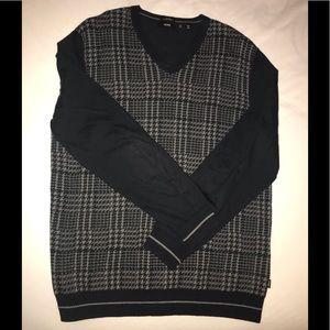 Hugo Boss slim fit cotton cashmere sweater Sz XL